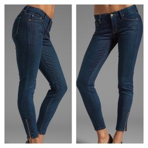 Mother The Looker Ankle Zip Smooth Moves Size 26